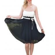 Rochie delicata, de culoare negru-alb