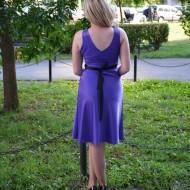 Rochie eleganta din saten, de culoare mov