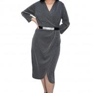 Rochie eleganta Yanna cu sclipici,negru-argintiu