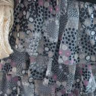 Rochie feminina , casual , midi, combinatii de negru cu gri