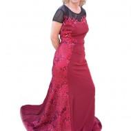Rochie feminina cu dantela, paiete, model lung pentru ocazii