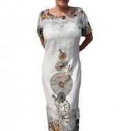 Rochie lunga de vara, culoare gri