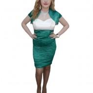 Rochie tinereasca si mulata, nuanta de verde, bolero