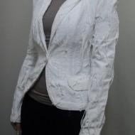 Sacou cazual, modele atipice, design special, culoare alb