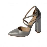 Sandale rafinate , nuanta de argintiu sidef cu strasurii fine