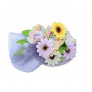 Agraf tip palarie ,model elegant cu flori,multicolor