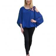 Bluza eleganta Divine,decupaj la nivelul umeriilor,nuanata de turcoaz
