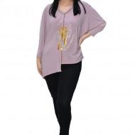 Bluza eleganta Uma cu insertii de strasuri ,nuanta de mov