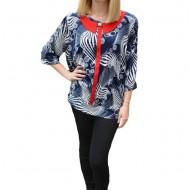 Bluza Zoe eleganat cu model rafinat,nuanata de bleumarin