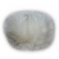Caciula deosebita de blana alba, accesoriu fashion de iarna