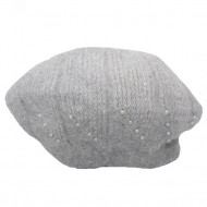 Caciula Ella fashion calduroasa cu insertii de strasuri ,nuanta de gri