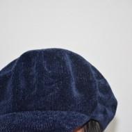 Caciula rafinat cu design de cozorig, nuanta de bleumarin