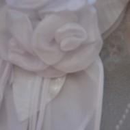 Camasa alba cu un model elegant, din material transparent