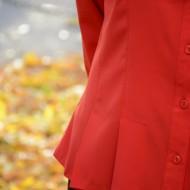 Camasa casual, de culoare rosie, cu maneca lunga, masura mare
