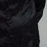 Camasa de ocazie din saten de nuanta neagra, cu nasturi rafinati