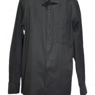 Camasa simpla, clasica, de culoare neagra cu maneca lunga