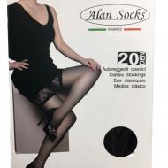Ciorap trendy, elegant cu aspect transparent in nuanta de negru