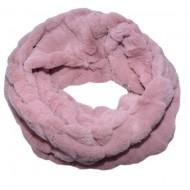 Fular Lenna cu insertii de blanita,model cilcular,nuanta de roz
