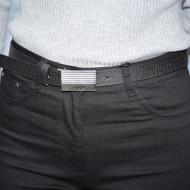 Pantalon dama Deliah cu insertii de strasuri pe picior,negru