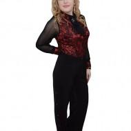 Pantalon deosebit, nuanta de negru, talie inalta, design chic