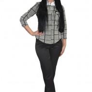 Pantalon modern cu imprimeu de catifea,nuanta neagra