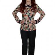 Pantalon modern, nuanta de gri inchis, design simplu