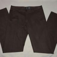 Pantalon simplu, clasic, de culoare maro, din material de bumbac