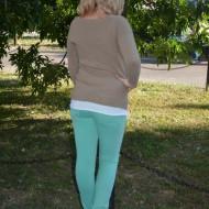 Pantaloni femei, de culoare turcoaz PA-093-TU