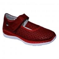 Pantof cu talpa joasa nuanta de rosu