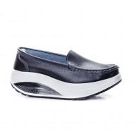 Pantof dama Avelia sport cu talpa ortopedica,nuanta de negru