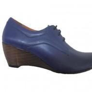 Pantof de primavara-toamna, de culoare bleumarin, model simplu