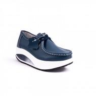 Pantofi Adeline sport cu talpa ortopedica si siret ,nuanta de albastru