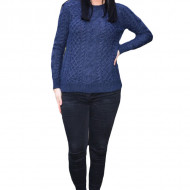 Pulover tricotat,Jenny ,model deosebit,3D,bleumarin