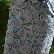 Rochie de primavara-vara, mulate, de culoare gri-albastru