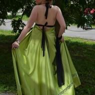 Rochie de seara lunga, feminina, pe culoare verde deschis