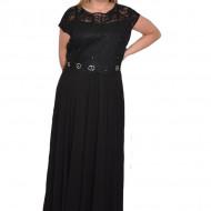 Rochie de seara Monserrat cu dantela,nuanat de negru