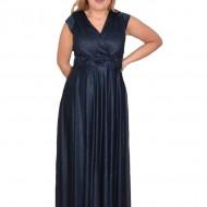 Rochie de seara Silvana cu sclipici nuanta de bleumarin