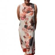 Rochie de zi cu imprimeu floral de culoare multicolora