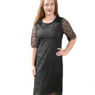 Rochie eleganta cu croi simplu, clasic, realizata din dantela neagra
