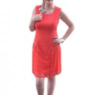 Rochie eleganta, shic, din dantela, disponibila in nuanta de corai