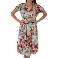 Rochie feminina de vara cu croi lejer si imprimeu multicolor