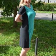 Rochie  ,feminina,ideala pentru office de culoare turcoaz-negru
