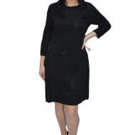 Rochie office Caterina ,model plisat la fusta,negru