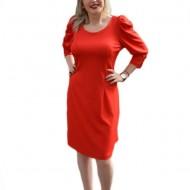Rochie tinereasca, de culoare rosie, moderna