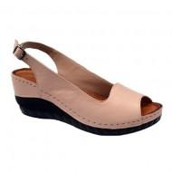Sandale cu platforma nuanta de pudra