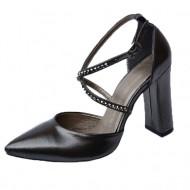 Sandale elegante negru sidef cu barete si strassuri