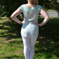Tricou tineresc cu imprimeuri de stelute albe
