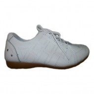 Adidas sport, din piele naturala, design creat de cusaturi, pe alb