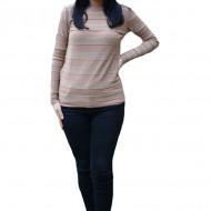 Bluza casual Carina ,model cu sclipici,maro