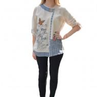 Bluza casual Paige ,model deosebit,nuanta de bej